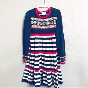 Hanna Andersson   Snowflake Winter Sweater Dress